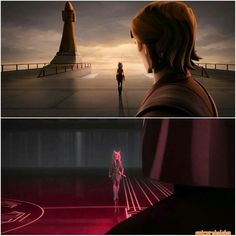 Ahsoka and Anakin / Vader - Clone Wars S5 And Rebels S2 Finale