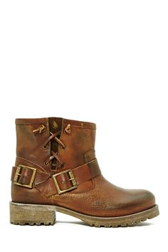 I'm crying because I love these boots. But I know I'll never have these boots. A missionary can't own boots that cost $260! I would mow lawns to have these boots. Amen!  Jeffrey Campbell 1949 Moto Boot - Brown at Nasty Gal