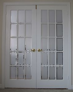 Distinctive interiors beveled glass french door with - Exterior glass panel french doors ...