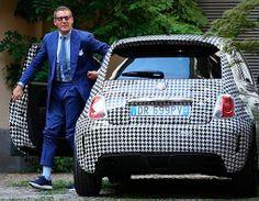Fiat 500 Abarth decorado con tejido pata de gallo