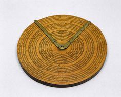 Circular slide rule, 1660-1680.