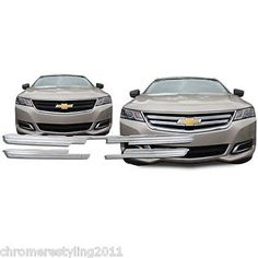 CHEVY-IMPALA-Chrome-Overlay-Grille-Insert-Fits-2014-2015-LS-MODEL