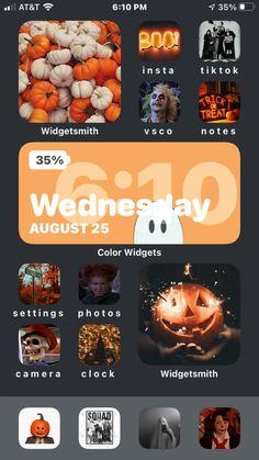 Iphone Instagram, Iphone App Layout, Ios Design, Ios Icon, Fall Wallpaper, Halloween House, Homescreen, Trick Or Treat, Diys