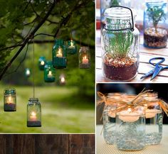 I love the idea of decorating with mason jars!