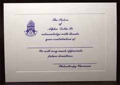 Alpha Delta Pi - Donation Thank You-great for philanthropy events!