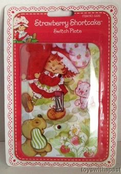 Strawberry Shortcake SWITCH PLATE Cover Rix 2004 NEW! Pupcake Custard | eBay
