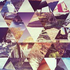 vintage / triangle grid