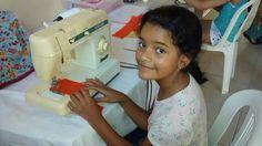 """Eduarda fez parte do curso """"Cantinho da costura"""" promovido pela FEARC (Feira de Artesanato Conquistense)."""