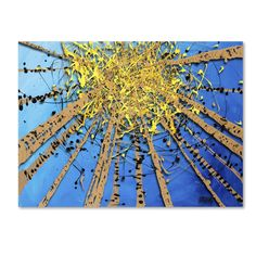 Brown Aspen Sky by Roderick Stevens Painting Print on Wrapped Canvas