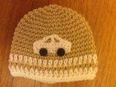 Beige and cream car hat