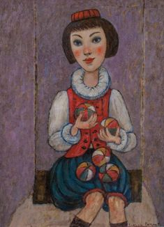 JUGGLER by Svetlana Kurmaz, oil on canvas, © Svetlana Kurmaz Russian Art, Oil On Canvas, Paintings, Artist, Paint, Painted Canvas, Painting Art, Oil Paintings, Painting