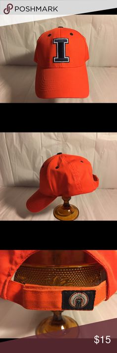 Fighting Illini Hat University of Illinois fighting Illini orange hat. Captivating Headgear Accessories Hats