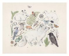 Fox and Fir by SarahMcNeil