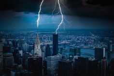 Lightning in New York City