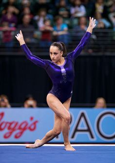 Jordyn Wieber--she totally deserved a spot in the all around. Totally unfair how they only allow 2 from each country.