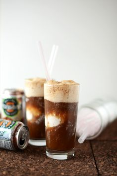 Vodka Root Beer Floats {with coconut ice cream}