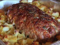 Polpettone con patate al forno