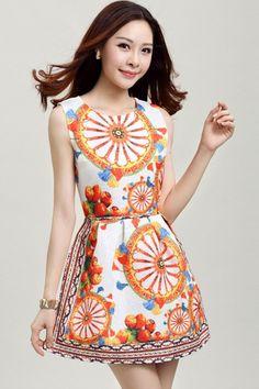 Magic Wheel Jaquared Dress - OASAP.com