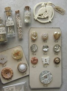 Autumn Curiosities Button Cards by fancylinda, via Flickr