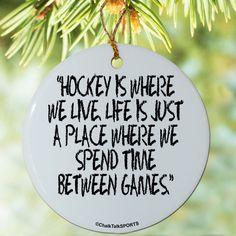 Hockey Porcelain Ornament Hockey Is Where We Live   Hockey Ornaments   Hockey Christmas Decor
