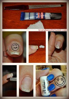 brainy beauty(ful) • Fixing broken nails