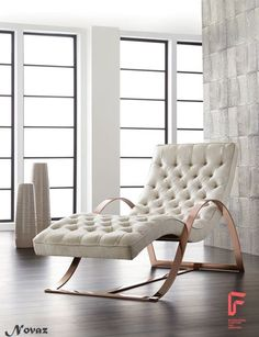 An Incredibly Stunning Chaise Lounge From Novazu0027s Club Collection,  Featuring An Elegantly Contoured Rose Gold