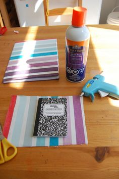 making a fabric covered notebook Cute craft idea!