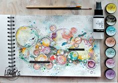Hi Gang! It's Elena Martynova here with an Art Journal page, created with Magicals and Fabio Sprays from Lindy's. I used Magicals to create the background. I poured some water into a saucer, then …