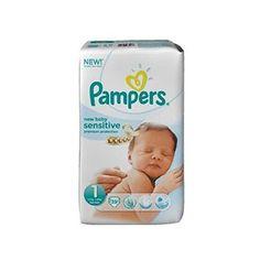 PAMPERS Pannolini New Baby Sensitive Taglia 1 neonato (2-5 kg) - Gigante x 39 pannolini di Pampers € 17,06