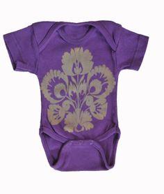 Purple Folksy Baby Onesie and Lap Tee by StudioVim on Etsy, $10.00