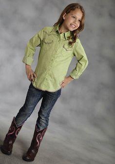 Limeade : Girls Western Shirt | Free Shippin on Girls Western Shirts