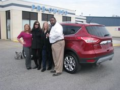 "Someone purchased their FIRST CAR today!! Here is the lovely Nancy Gold and her first car ever! A BRAND NEW 2015 Ford Escape, which she's already named ""The Red Barron""! Nancy was assisted through the process of buying her first car by our wonderful, helpful Jennifer Hughes! From all of us at Ford of Murfreesboro, enjoy your first car, and welcome to the Ford family!"