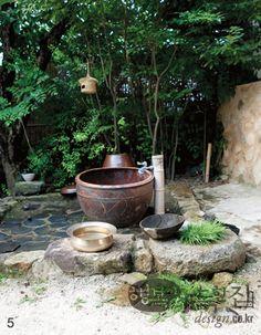 Modern Hanok | Korea.  Wish I had fresh water from a well.