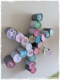 Bricolage en rouleaux de papier toilette #5 : un calendrier de l'avent |La cour des petits