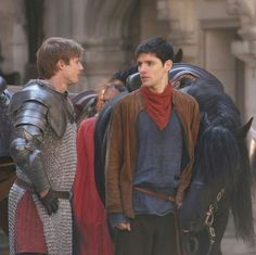 Look at Colin/Merlin's horse, awww... Cause 'everybody loves Colin, awww we'll look after Colin'.... (Interviews anyone?)
