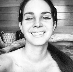 New Lana Del Rey selfie on Instagram! Love her 'Whitney Amy' tattoo! #LDR