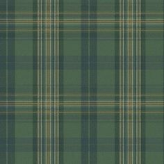 Chesapeake 8 in. x 10 in. Austin Green Plaid Wallpaper Sample-MAN330212SAM - The Home Depot