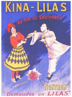 Kina Lilas  au vin de Sauternes  vintage poster  G81173