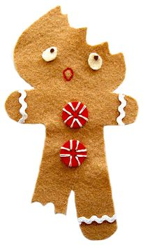Half-Eaten Gingerbread Man Ornament - Things to Make and Do, Crafts and Activities for Kids - The Crafty Crow