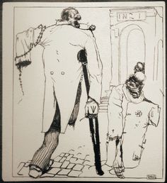 """Kārlis Padegs : """"Buy white roses, sir!"""" 1933 or 1934. From series """"The Book for the Poor""""."""