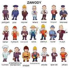 Buy Vector Set Of Business People, Such As Policeman by CattleyaArt on GraphicRiver. Vector set of business people, such as policeman, doctor, worker and other. Learning Games, Learning Centers, Learn Polish, People Png, Polish Language, Learn Russian, Music Photographer, Free To Use Images, People Illustration
