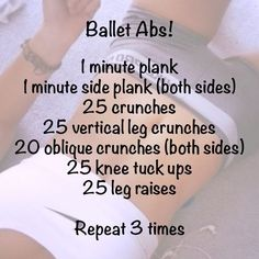 ab workout, not just for ballet dancers though, for ALL dancers, i say!