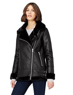 Alicia Giacca Donna Nero (Schwarz) 38 (Taglia produttore: S) Zara, Biker Style, Shopping Websites, Cute Woman, Outerwear Women, Coats For Women, Leather Jacket, Outfits, Jackets