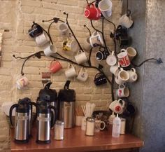 Insanely cool coffee mug tree! My favorite I've seen so far