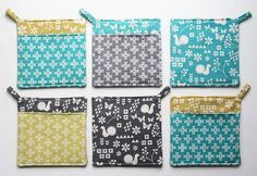 easy hot pads using fat quarters... must try!