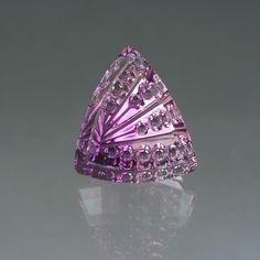 Amethyst gemstone by John Dyer. Would make a wonderful pendant!!!