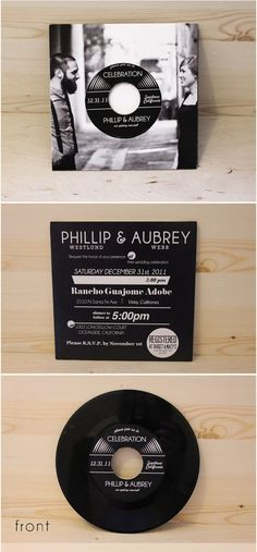 Love music? Why not use a CD invitation!!