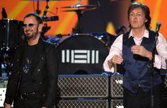 NoneRingo Star e Paul McCartney, os dois remanescentes do Beatles