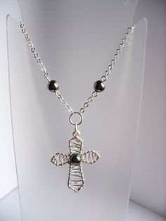 Wired Cross Pendent