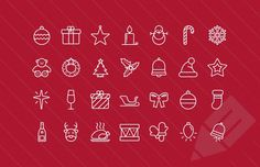 Medialoot - Outlined Vector Christmas Icons 2